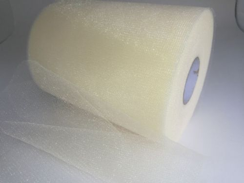 Tulle Roll | Shimmer Tulle 6 X 100Y /E02 Ivory